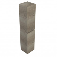 Novio Gino kast hoog 35x35x170cm 2 deuren li/re zilver eiken Zilver Eiken