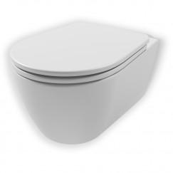 Novio Primo wandcloset spoelrandloos verkort wit Wit