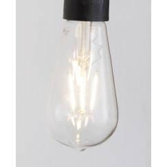 Novio Liam led lamp e27 3000k 380l peervormig warm wit Warm Wit