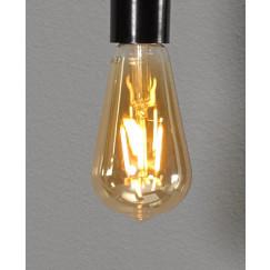 Novio Liam led lamp e27 1800k 380l peervormig amber Amber