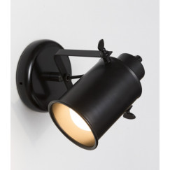Novio Liam wandlamp cylinder e27 zonder lamp zwart Zwart