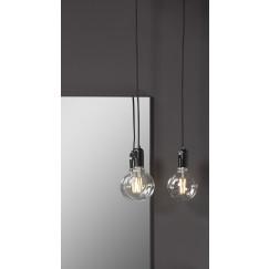Novio Liam hanglamp e27 met schakelaar zonder lamp zwart Zwart