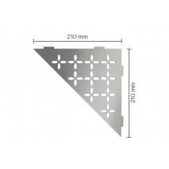 Schluter Shelf planchet floral  21x21cm rvs geborsteld Roestvast Staal Geborsteld SES1D5EB