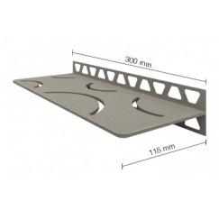 Schluter Shelf-w-s1 planchet curve 30,x11,5cm rvs geborsteld Roestvast Staal Geborsteld SWS1D6EB
