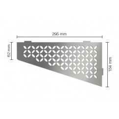 Schluter Shelf planchet floral 15,4x29,5cm rvs geborsteld Roestvast Staal Geborsteld SES3D5EB