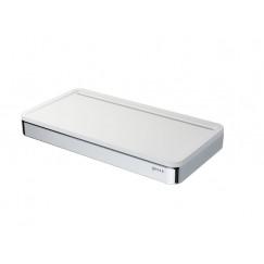 Geesa Frame universeel planchet met witte inzet chroom Chroom 918804-02