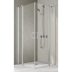 Kermi Pega hoekinstap helft links 110x200 zilver glans-helder Glans Zilver PEEPL11020VAK