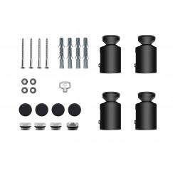 Guo Apollo radiator bevestigingsset verstelbaar 60-85mm zwart Zwart
