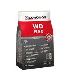 Schonox Wd Flex waterafstotende flexibele cementvoeg grijs 5kg Grijs 582572