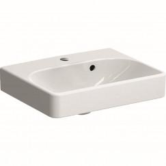 Geberit Smyle fontein 45cm 1 kraangat met overloop wit Wit 500.222.01.1