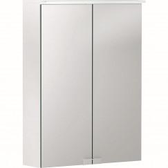 Geberit Option spiegelkast met verlichting 2 deuren 50x67,5cm wit Wit 500.257.00.1