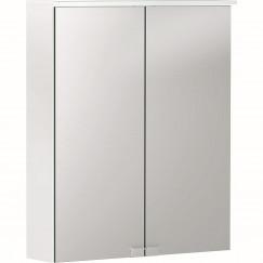 Geberit Option spiegelkast met verlichting 2 deuren 56x67,5cm wit Wit 500.258.00.1