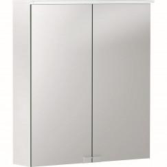 Geberit Option spiegelkast met verlichting 2 deuren 60x67,5cm wit Wit 500.273.00.1