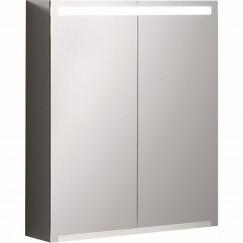 Geberit Option spiegelkast led verlichting 2 deuren 60x70x15cm  500.582.00.1