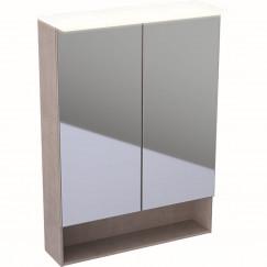 Geberit Acanto spiegelkast verlichting 2 deur 60cm eiken mystiek Eiken Mystiek 500.644.00.2
