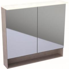 Geberit Acanto spiegelkast verlichting 2 deur 90cm eiken mystiek Eiken Mystiek 500.646.00.2