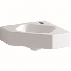 Geberit Icon hoekfontein 46cm 1 kraangat zonder overloop wit Wit 124729000