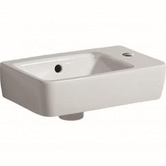 Geberit Renova Compact fontein 40cm kraangat rechts met overloop wit Wit 276140000