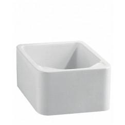 Geberit 300 Basic voetbassin 39x48cm zonder overloop wit Wit S8L00400000G