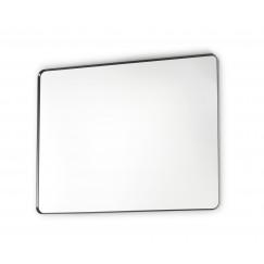 Novio Rocco spiegel rechthoekig ronde hoeken 80x80 mat zwart Mat Zwart