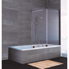 Novio Pure Day badschuifwand 120-140x150cm l/r timeless black Black Edition-timeless