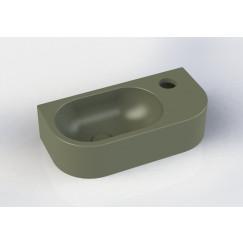 Novio Stretto 2.0 fontein afgerond 40x20x10 mat groen Mat Groen