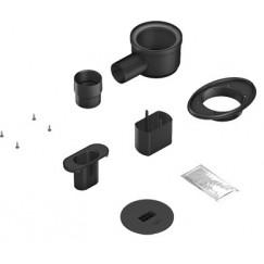Wedi Fundo Riolito afvoerset v/sleufdrain horizontaal minimax zwart Zwart 077500003