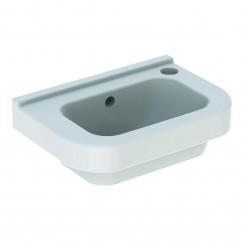 Geberit 300 Basic fontein 36cm kraangat rechts met overloop wit Wit S8400100000G