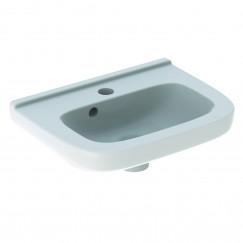 Geberit 300 Basic fontein 40cm kraangat mi. m/overloop tect wit Wit S8400200001G
