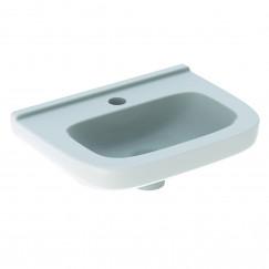 Geberit 300 Basic fontein 40cm kraangat midden z/overloop tect wit Wit S8400210001G