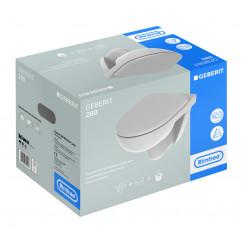 Geberit 280 Basic pack wandcloset met closetzitting rimfree wit Wit S8P01500000G