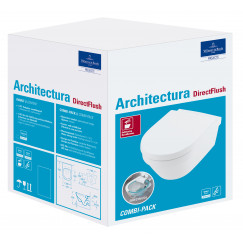 Villeroy & Boch Architectura pack wandcloset directflush softcl/quickrel. wit Wit 4694HR01