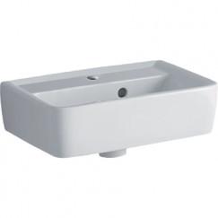 Geberit Renova fontein 50cm 1 kraangat m/overloop tect wit Wit 272150600
