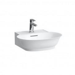Laufen The New Classic fontein 50x42cm met overloop 1 kraangat wit Wit H8168520001041