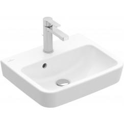 Villeroy & Boch O.novo fontein 50x37cm + kr.gat m/overl. wit c+ Wit 434450R1