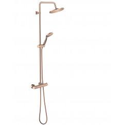 Novio Be Wet showerset met thermostaat koper Koper