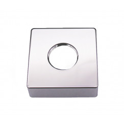 Guo Be Fresh Square vierkante rozet per stuk 5,5x5,5cm chroom Chroom