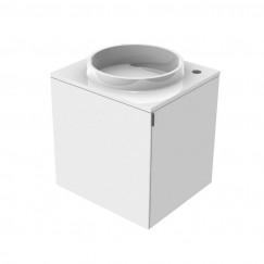 Emco Asis wastafel met onderkast 45cm links  wit Wit 958227410