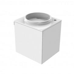 Emco Asis wastafel met onderkast 45cm rechts  wit Wit 958227411