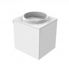 Emco Asis wastafel m/onderkast 45cm links z/kraangat wit Wit 958227415