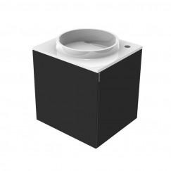 Emco Asis wastafel met onderkast 45cm links  zwart Zwart 958227510