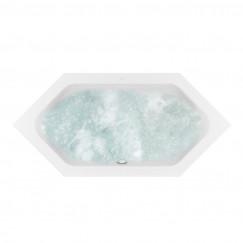 Villeroy & Boch Loop & Friends hydropool comfort (hc) zeshoek 2050x90cm wit  UHC205LFS6A1V01