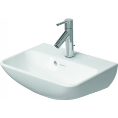 Duravit Me By Starck fontein 450x155x320mm z/krgat m/overl. wit Wit 0719453210