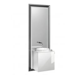 Emco Touch 450 badmeubelset deurgreep rechts zwart/optiwhite Zwart/optiwhite 955029300