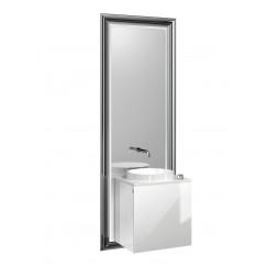 Emco Touch 450 badmeubelset deurgreep links zwart/optiwhite Zwart/optiwhite 955029301