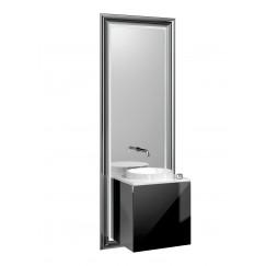 Emco Touch 450 badmeubelset deurgreep links zwart/zwart Zwart/zwart 955029401