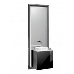 Emco Touch 450 badmeubelset deurgreep rechts chroom/zwart Chroom/zwart 955027900