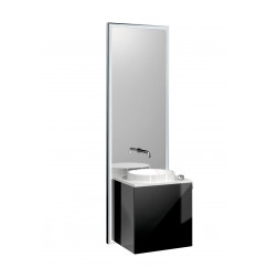 Emco Touch 450 badmeubelset deurgreep rechts chroom/zwart Chroom/zwart 955227900