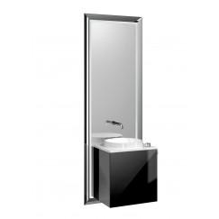 Emco Touch 450 badmeubelset deurgreep rechts chroom/zwart Chroom/zwart 955127900
