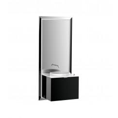 Emco Touch 600 badmeubelset schuiflade chroom/zwart Chroom/zwart 955427900